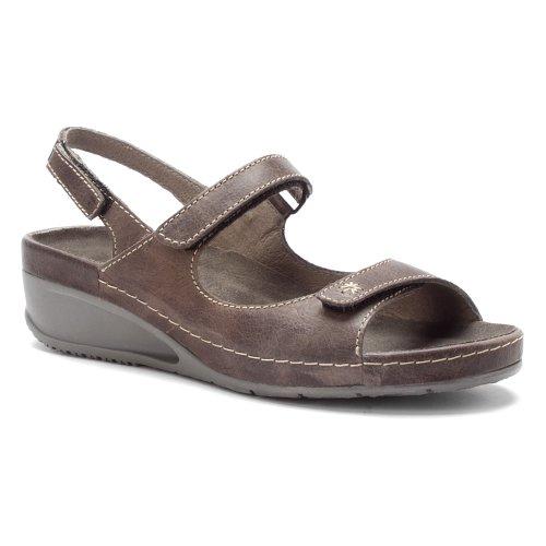 Wolky Women's Tsunami Slate Cartago Leather Sandal 39 (US Women's 7.5-8) B (M) by Wolky