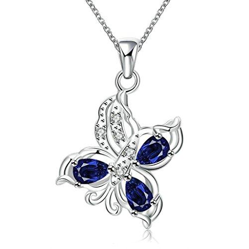 Women 925 Silver Plated Hollow Heart Pendant Necklace + Bracelet + Earrings Jewelry Set - 3
