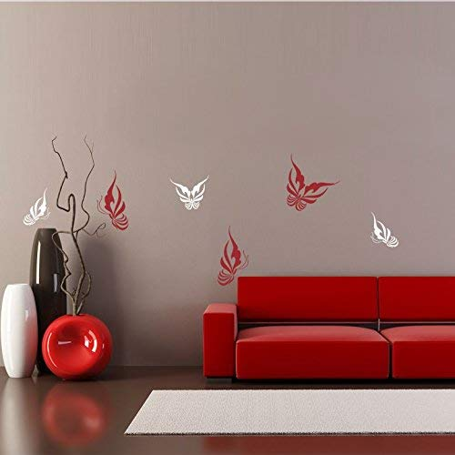 Trio Art Butterfly (EvelynDavid Wall Sticker Family Wall Quotes Vinyl Lettering Wall Art Decal Butterfly Trio home decor)
