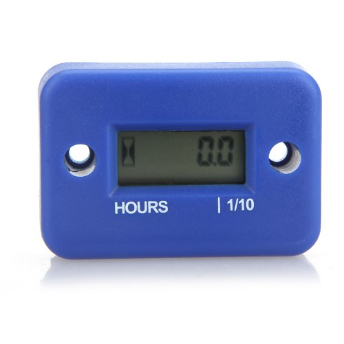 Docooler® Digital Hour Meter Gauge LCD for Gasoline Engine Racing Motorcycle ATV Mower Snowmobile 0.1/99999Hrs - Blue
