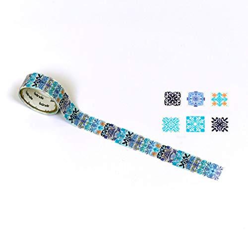 - Bande Masking Roll Sticker Masking Tape Blue Tile for Scrapbooking DIY (BDA443)