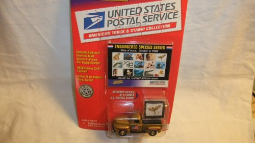 JOHNNY LIGHTNING UNITED STATES POSTAL SERVICE ENDANGERED SPECIES SERIES STAMP REPLICAS 1950 FORD F-1 DIE-CAST COLLECTIBLE by Playing Mantis