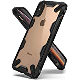 "Ringke Fusion-X Designed para Funda iPhone XS 5.8"" Ergonómico Transparente [Defensa Provista Caída Militar] Firme PC Back TPU Bumper Protección Cover para iPhone X, XS 2018 - Black Negro"