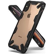 "Ringke Fusion-X Compatible con Funda iPhone XS 5.8"" Ergonómico Transparente [Defensa Provista Caída Militar] Firme PC Back TPU Bumper Protección Resistente Impactos Cover para Apple iPhone XS - Black"