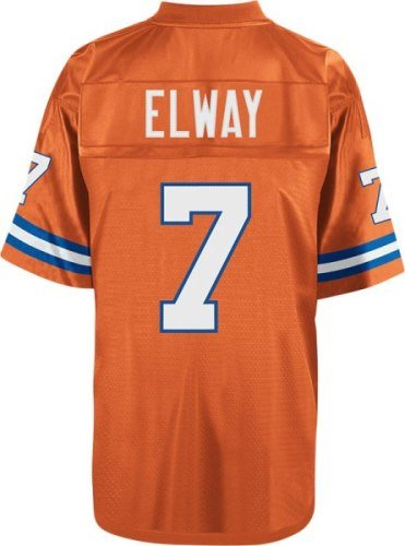 John Elway Denver Broncos Orange Throwback Jersey 4X-Large (John Merchandise Elway)