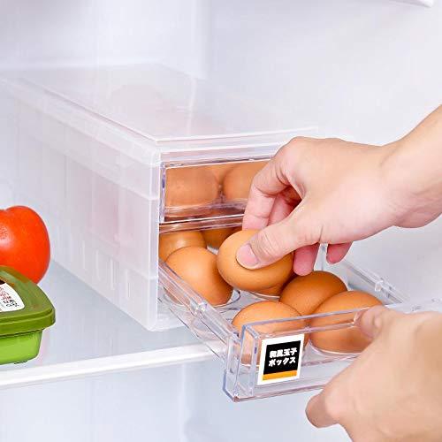 Joyfeel buy Plastic Egg Holder Trays 24 Eggs with Lid Portable Egg Box Plastic Egg Holder for Refrigator Kitchen Outdoor Fridge Camping Double-layer Drawer