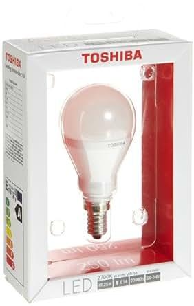 Toshiba LDGC0627FE4EUC - Bombilla redonda LED (E14, 6 W), color blanco