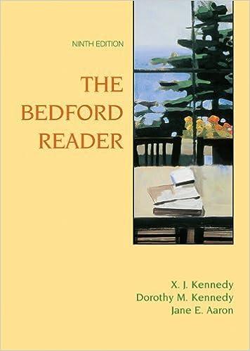 Téléchargement de l'annuaire téléphonique mobile Bedford Reader: High School Reprint by Kennedy, X. J., Kennedy, Dorothy M., Aaron, Jane E. (2005) Hardcover PDF B01181ETYM