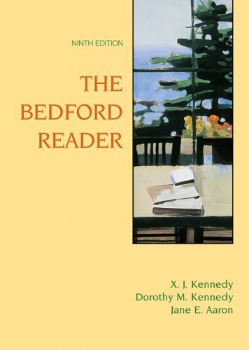 Bedford Reader: High School Reprint by Kennedy, X. J., Kennedy, Dorothy M., Aaron, Jane E. (2005) Hardcover pdf
