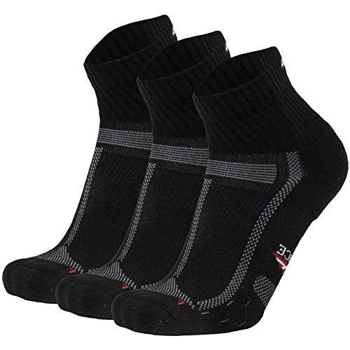 Running Socks for Long Distances (Black/Grey 3 Pairs, US Women 8-10 // US Men 6.5-8.5) (Best Long Distance Running Shorts)