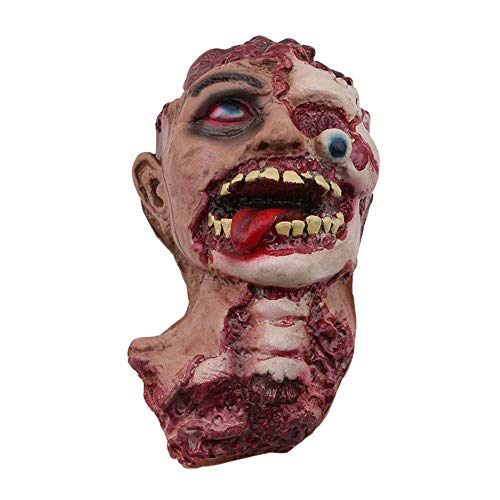 Halloween Horror Severed Head Decoration Hanging Table Prop Bloody Gory Zombie H]()