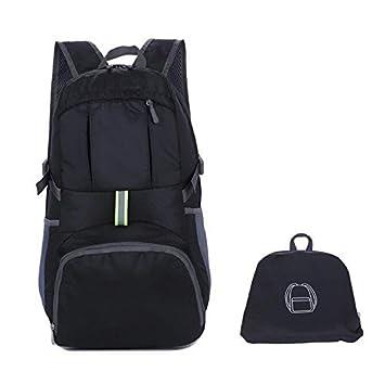 Enkrio Mochila de viaje ultraligera plegable resistente al agua mochilas plegables para senderismo mochila de hombro