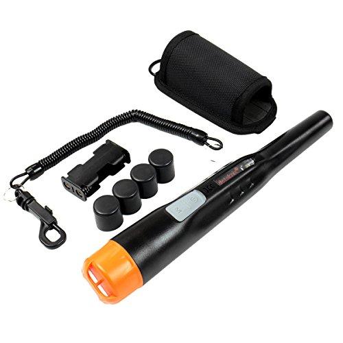 Quest 1V_1501.103 Black Wader Waterproof Pinpointer Metal Detector, Dual Power