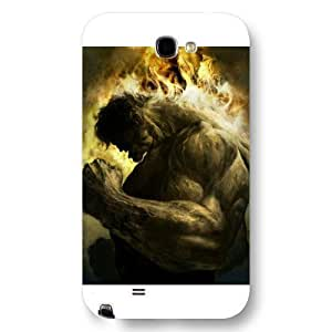 UniqueBox Customized Marvel Series Case for Samsung Galaxy Note 2, Marvel Comic Hero Hulk Samsung Galaxy Note 2 Case, Only Fit for Samsung Galaxy Note 2 (White Frosted Case)