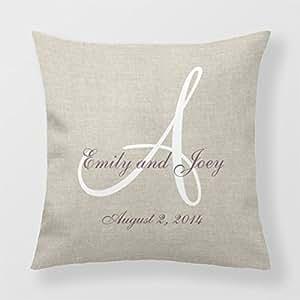 Decorative Pillowcase Names Monogram Throw Pillows