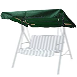 """Yescom 63-3/4""""x47-1/4"""" Deluxe Outdoor Swing Canopy Replacement Porch Top Cover for Patio Yard Seat Furniture"""