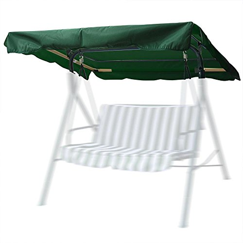 Yescom 63-3/4'x47-1/4' Deluxe Outdoor Swing Canopy Replacement Porch Top Cover for Patio Yard Seat Furniture