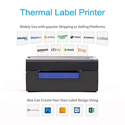 Thermal Label Printer, AONOMI Direct Thermal High Speed Printer, Compatible with Amazon, Ebay, Etsy, Shopify - 4×6 Label Printer by AONOMI (Image #3)