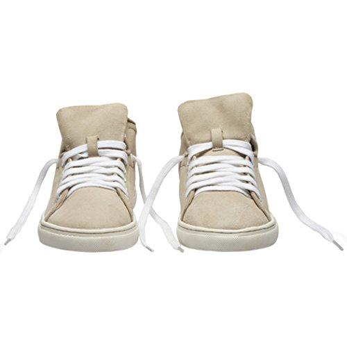 Dames TEDISH Cuir Chaussures Baskets Femme Marche Claire Mode de Plat Loisirs Natural Natural Confortable TD003 Outdoor Lacets qqr4v0