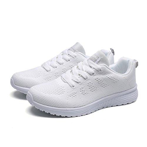 Scarpe Lavoro Sneakers Corsa Donna Estive Da Casual Beautyjourney Moda Bianca Ginnastica Sportive Stringate Eleganti pdUHcqz