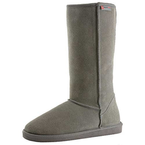 Alpine Swiss Genuine Suede Mia Tall Women's Shearling Boots 12″ Classic Sherpa