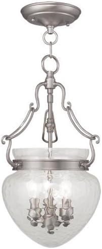 Livex Lighting 5041-91 Duchess 3-Light Convertible Hanging Lantern/Ceiling Mount