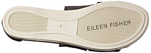 Eileen Fisher Sandalo Sportivo Da Donna In Pelle Bottalata Nera