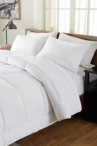 !Best Seller! Hotel Collection Down Alternative Comforter Duvet Insert - Hotel Quality Comforter Twin XL/Twin White Solid - Hypoallergenic,Plush Siliconized Fiberfill by Spreads Galore