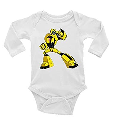 Bumble Bee Transformers Long Sleeves Unisex Baby/Toddler Onesie