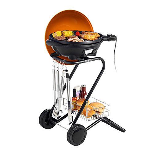 Movable Electric BBQ Barbecue Grill Smokeless Outdoor Indoor Camping