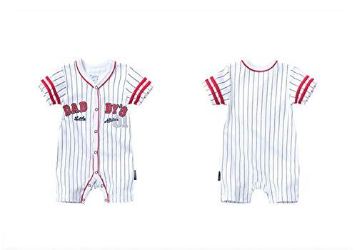 Fairy Baby Newborn Baby Boys Girls Summer Romper Shirt Outfit Snap Up Baseball Creeper Size 9-12 Months (5028)