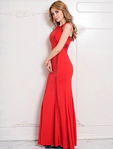 NEW Mesdames Rouge Robe Longue robe de Soirée à Sequins pour femme Cruise Soirée Cocktail Porter Robe Taille M 10