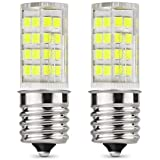 E17 LED Bulb 3.5 Watt Appliance Bulb Microwave Oven Light 6000K Daylight White, 350lm,Pack of 2 (Daylight White)