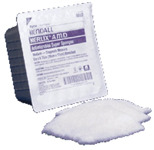 - Kendall Healthcare Kerlix AMD Antimicrobial Island Dressing Super Sponge 6