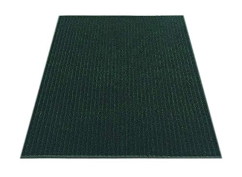 RugStylesOnline Tough Collection Custom Size Roll Runner Green 27 in or 36 in Wide x Your Length Choice Slip Resistant Rubber Back Area Rugs and Runners (Green, 27 in x 12 ft)