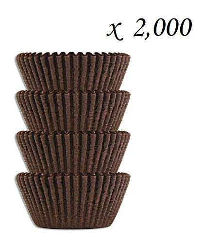 #4 Brown Glassine Paper Candy Cups - Chocolate Peanut Butter Baking Liners (2000) ()