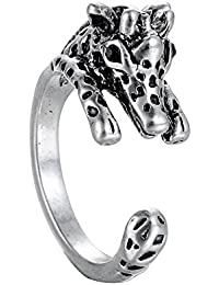 Chic Giraffe Ajustable Animal Wrap Ring Open Knuckle Ring