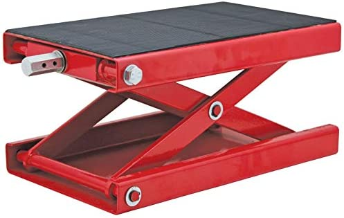 Extreme Max 5001.5059 1100 lb Wide Motorcycle Scissor Jack with Dolly
