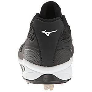 Mizuno Men's Dominant IC Baseball Shoe, Black/White, 11 D US