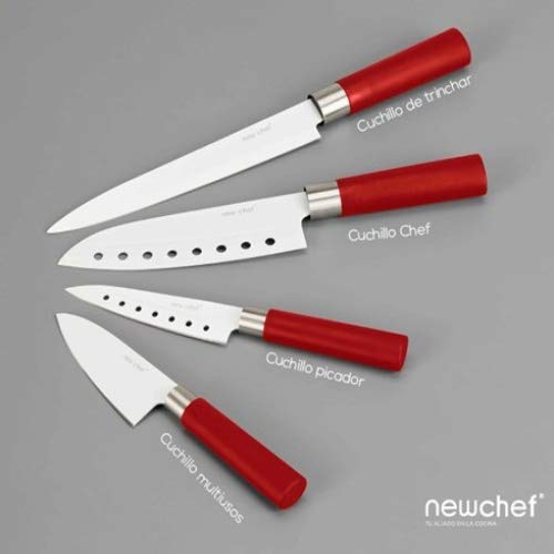 Cecotec Set de 4 Cuchillos con Recubrimiento cerámico, Acero Inoxidable