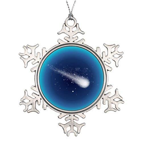 Acove Comet Digital Monogram Christmas Snowflake Ornaments 3 inch