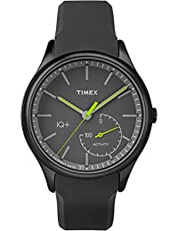 Timex Men's TW2P95100L3 Sport IQ+ Move Green Hands with Grey Silicone Strap Watch