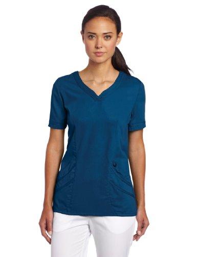 Urbane Mujer Chloe sweetheart-neck Scrub Camisa, color Azul, talla 3X