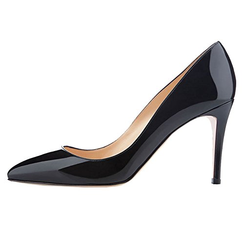 Soireelady Womens Pointed Toe Classic Court Shoes Elegant Office Pumps Black 7NYFDt