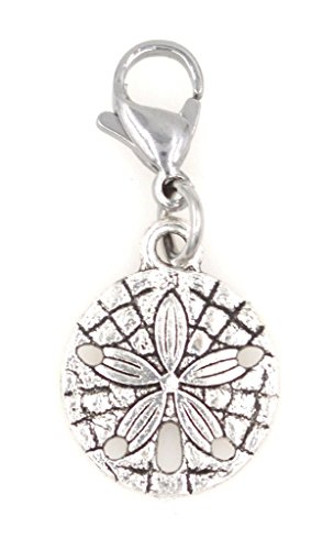 It's All About...You! Sand Dollar Beach Nautical Clip on Charm Perfect for Necklaces Bracelets 95F ()