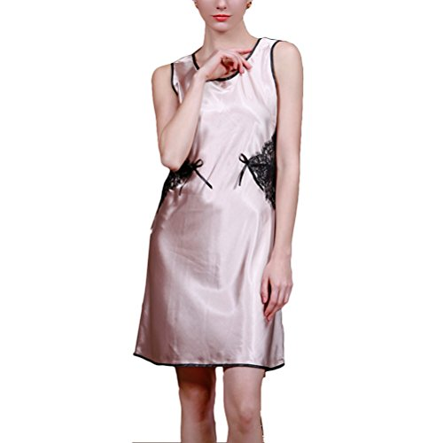 Lingerie Camel Enchanting Silk Sleeveless Women's Zhhlaixing Nightgowns Sexy Sleepshirts 7EqwzxU