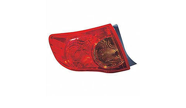 OE Replacement TOYOTA COROLLA/_SEDAN Tail Light Assembly Partslink Number TO2801175
