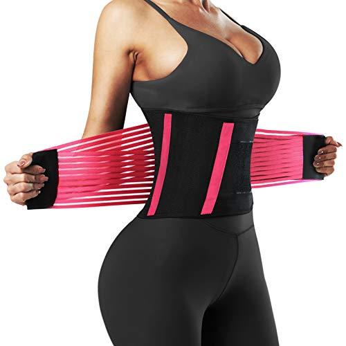 Letsfit Waist Trainer for Women & Men, Adjustable Cincher Trimmer, Slimming Body Shaper Belt for Workout Fitness Sports