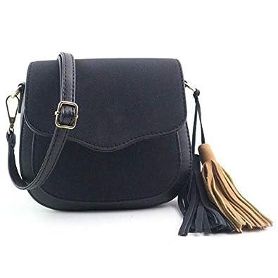 HITSAN INCORPORATION MOLAVE Handbag bag female PU bags for women hasp  Fashion Hit Color Splicing Tassel adf8c40930c66