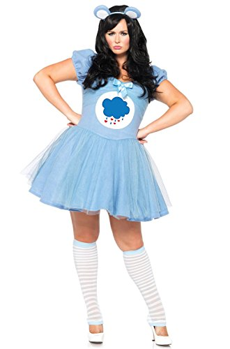 Mememall Fashion Care Bears Grumpy Bear Plus Size Costume (Adult Care Bears Cheer Bear Costume)